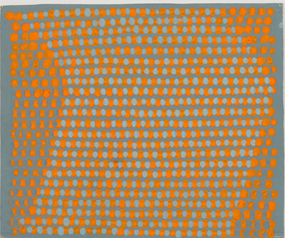 Gencay Kasapci, 'Composition cinétique (points orange et gris)'