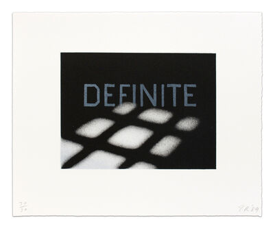 Ed Ruscha, 'Definite from the That is Right portfolio', 1989