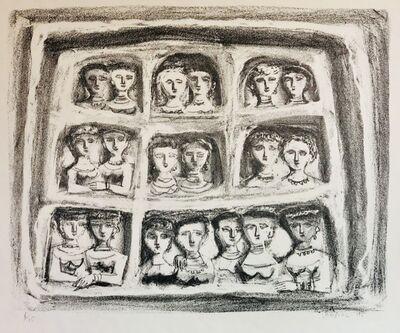 Massimo Campigli, 'Primo Studio per Palchi di Teatro', 1945