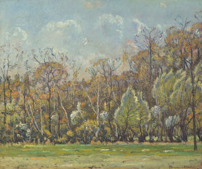 Theodore Wendel, 'Trees at Heartbreak Hill, Upper Farm', ca. 1915