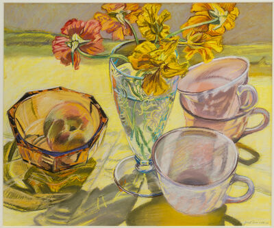 Janet Fish, 'Nasturtiums and Pink Cups', 1981