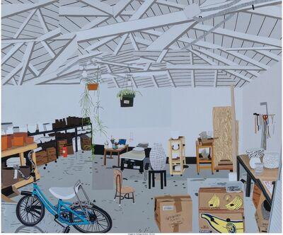 Jonas Wood, 'Shio's Studio on Palms Exhibition Poster', 2015