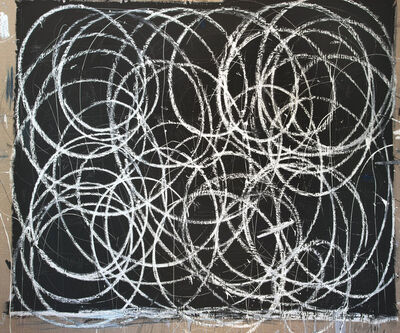 Briggs Edward Solomon, 'Black with Many White Swirls', 2014