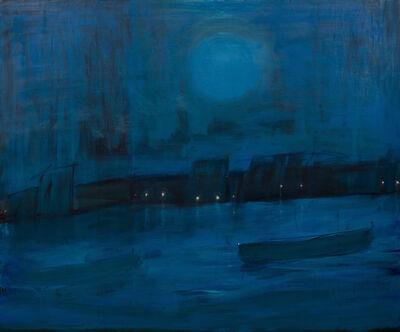Kathryn Lynch, 'boat with blue moon', 2017