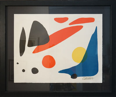 Alexander Calder, 'Composition (Blue Boomerang with Red, Black and Yellow Shapes)', 1962