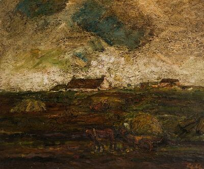 Sheila Fell, 'Country road towards evening', 1965