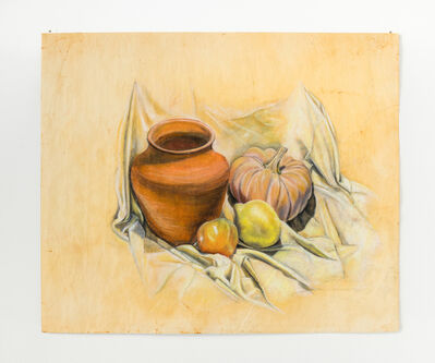 Ariane Vielmetter, 'Still life with ceramic vessel and garden fruits (for Paula M.)', 2019
