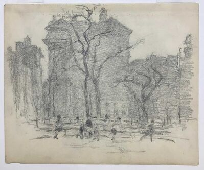 Reynolds Beal, 'Untitled (Man Reading in Madison Square Park)', 1925