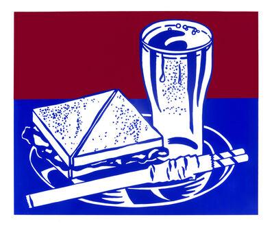 Roy Lichtenstein, 'Sandwich and Soda, from the X + X (Ten Works by Ten Painters) portfolio (Corlett 35)', 1964