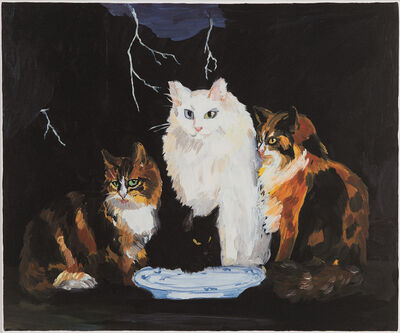 Karen Kilimnik, 'Surf & turf, Belgian Cats on the Northern Coast of Belgium', 1996-2001