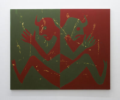 Pablo Carrillo, 'Untitled (Double Demons Red and Green)', 2016