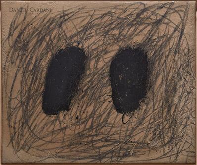Antoni Tàpies, 'Dues taques negres i grafisme ', 1969
