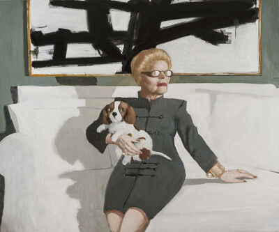 Julio Larraz, 'In the Green Room with Winston', 2017