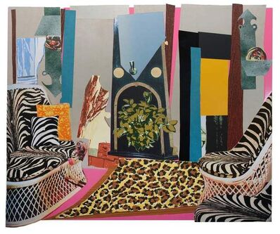 Mickalene Thomas, 'Interior: Zebra with Two Chairs and Funky Fur', 2014