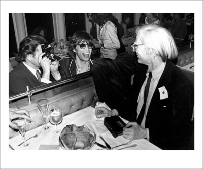 Mick Rock, 'Mick Jagger, Andy Warhol, Windows on the World', 2020