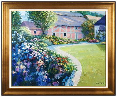 Howard Behrens, 'Howard Behrens Large Original Oil Painting On Canvas Signed Floral Landscape Art', 21st Century