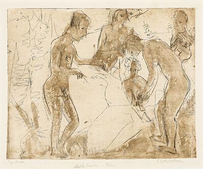 Ernst Ludwig Kirchner, 'Badende Familie', 1925