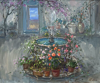 Bruno Zupan, 'Fountain in Spanish Patio', 2021