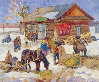 Vladimir Frolovich Stroev, 'Villagers', 1971