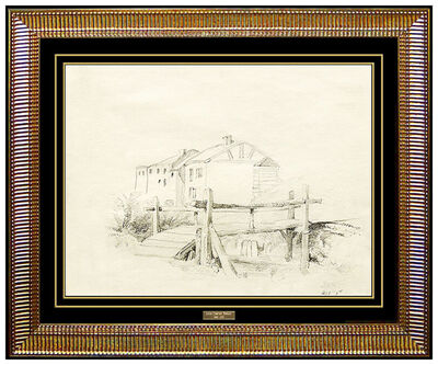 Louis Comfort Tiffany, 'Louis Comfort Tiffany Original Drawing HAND SIGNED LCT Architecture Antique Art', 19th Century
