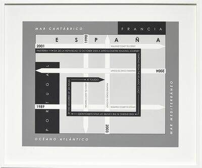 Hamish Fulton, 'Six Walks Map, Iberian Peninsula', 1989-2005