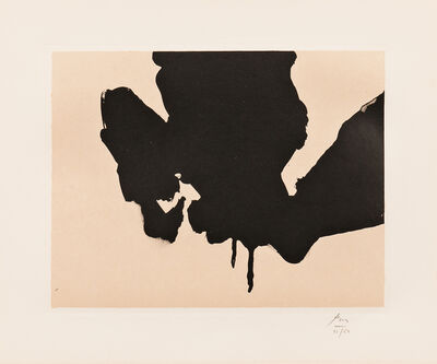 Robert Motherwell, 'Untitled, plate 23 from the Octavio Paz Suite', 1988