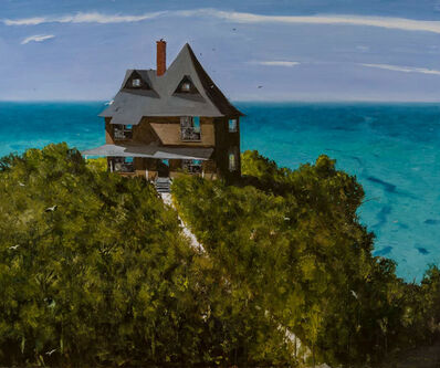 Julio Larraz, 'An American Poet Lives Here', 2017