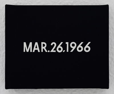 "On Kawara, 'MAR.26,1966 ""The national congress of the Soviet Communist party in Moscow""', 1966"