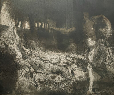 Hughie O'Donoghue, 'Actaeon after Titian', 1991