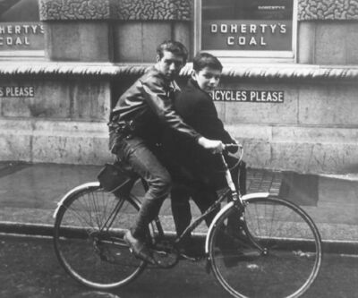 Edward Quinn, 'Two Boys on a Bicycle, Dublin', 1963