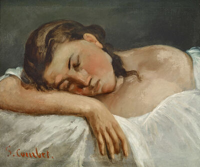 Gustave Courbet, 'YOUNG GIRL SLEEPING (JEUNE FILLE DORMANT)', 1847