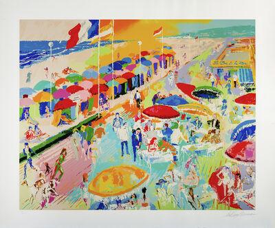 LeRoy Neiman, 'La Plage au Deauville', 1996