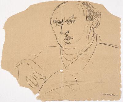 Jankel Adler, 'Self-portrait (on torn paper)', Undated