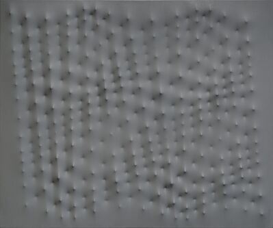 Enrico Castellani, 'Superficie grigia', 1991
