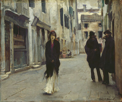 John Singer Sargent, 'Street in Venice', 1882