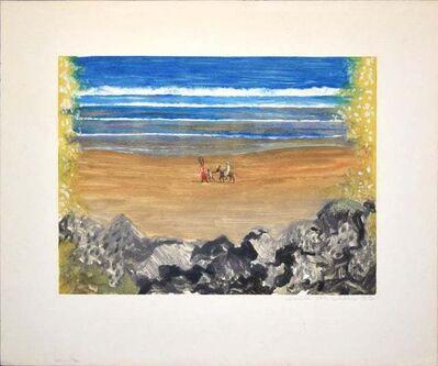Emile Deschler, 'Le Retour par la Plage (Tunisie)', 1977