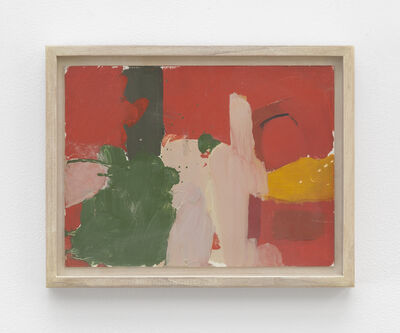 Fairfield Porter, 'Untitled [abstract-red and green]'