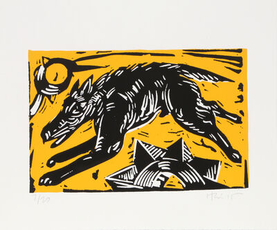 Charlie Hewitt, 'Dog on Yellow', ca. 1990