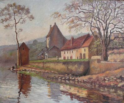 Paul-Emile Pissarro, 'Maisons au Bord de l'Eau', ca. 1914