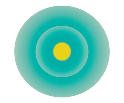 Ruth Adler, 'Turquoise Green Circle with Yellow Centre'