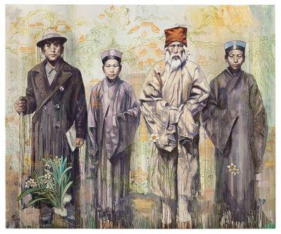 Hung Liu, 'Grandfather Liu and His Qianshan Friends', 2013