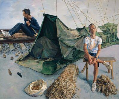 Yu Hong 喻红, 'Wheat, Coal Bricks, and Clay《麦粒、煤块和泥土》', 2018