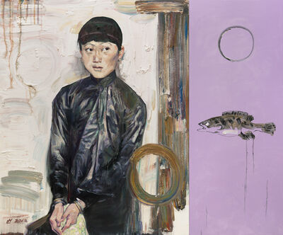 Hung Liu, 'Spring with Cynical Fish', 2012