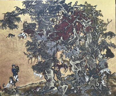 Yang Jiechang 杨诘苍, 'Mustard Seed Garden - Young Man with Leopard', 2014-2016