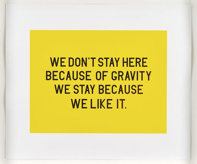Charles Avery, 'We don't stay here because of gravity we stay because we like it', 2014