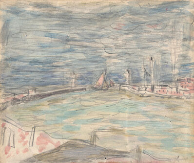 Pierre Bonnard, 'Sailboats at the Entrance to the Port', ca. 1925