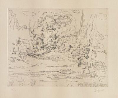 Duncan Grant, 'Salisbury - Homage to Constable', 1976
