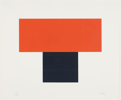 Ellsworth Kelly, 'Red-Orange over Black', 1970