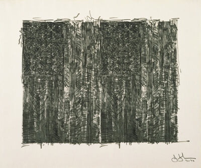 Jasper Johns, 'Two Flags', 1972