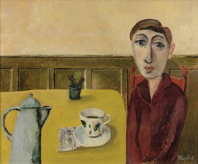Simon Quadrat, 'Young Woman in Café', 2018